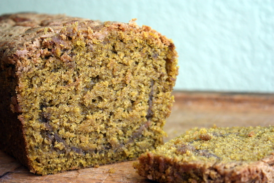 Pumpkin Peanut Butter Bread | the kitchen paper