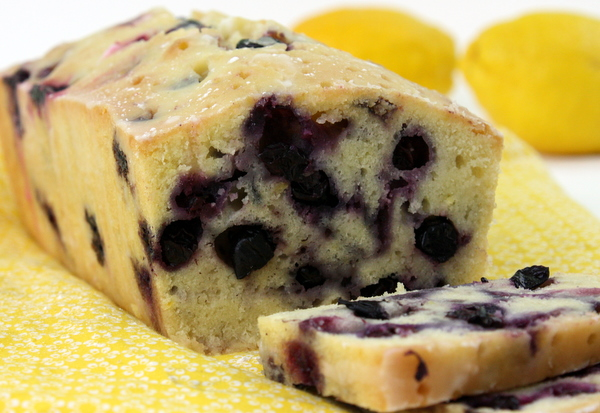 Pound Cake Loaf Recipe Sour Cream: Lemon-Blueberry Sour Cream Pound Cake With Lemon Glaze