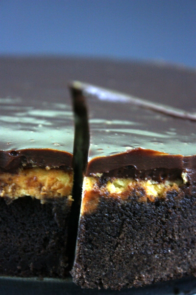 Brownie Cheesecake with Chocolate Caramel Ganache Recipe