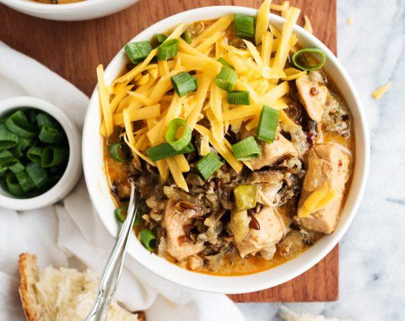 Spicy Chicken and Rice Chowder