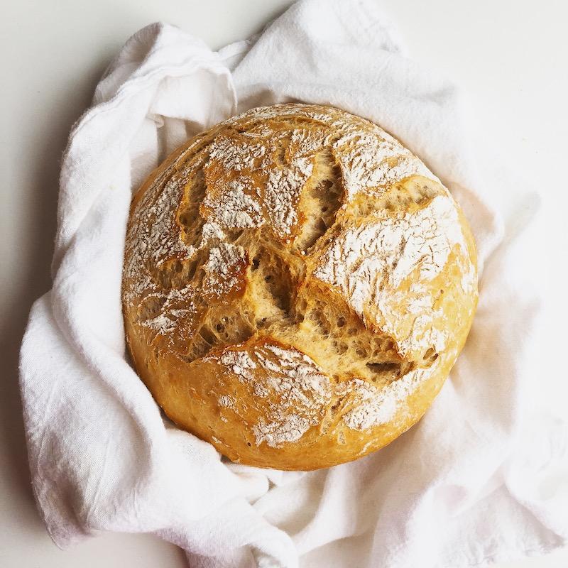 No Knead No Fail Bread Recipe | thekitchenpaper.com
