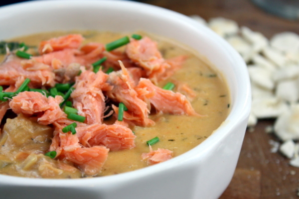 Smoked Salmon Chowder - The Kitchen Paper