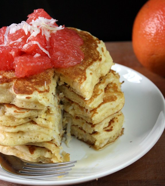 grapefruit coconut pancakes