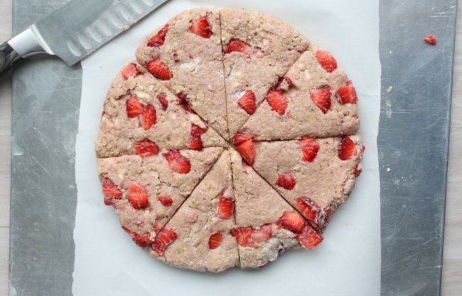 whole wheat strawberry and cream scones