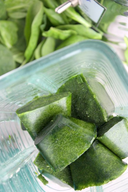 spinach ice cubes