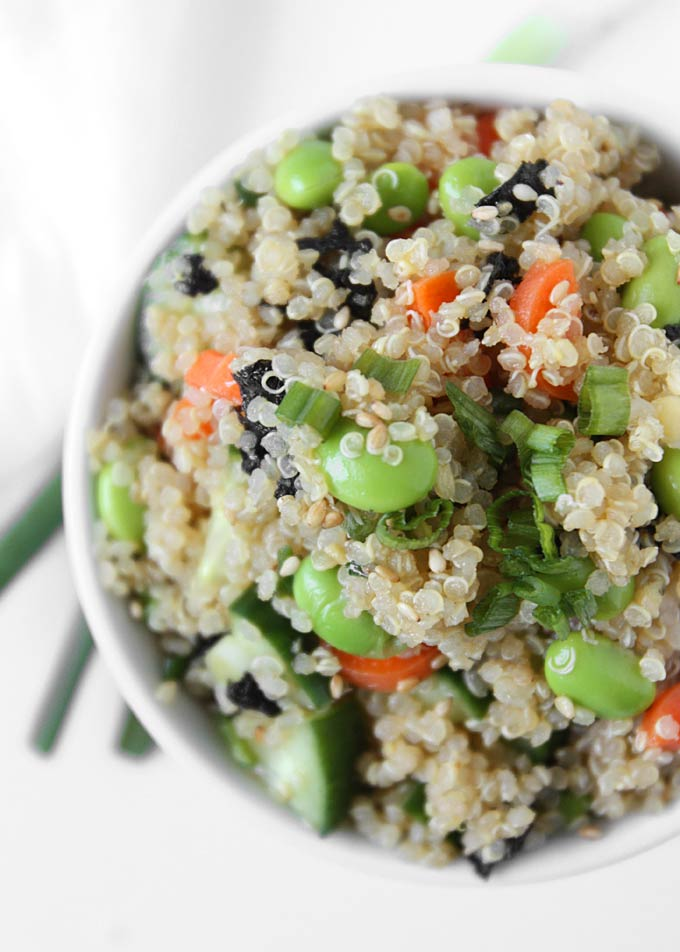 Quinoa Sushi Salad | thekitchenpaper.com