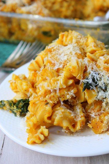 skinny pumpkin pasta bake
