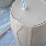 peanut butter banana oatmeal smoothie | thekitchenpaper.com