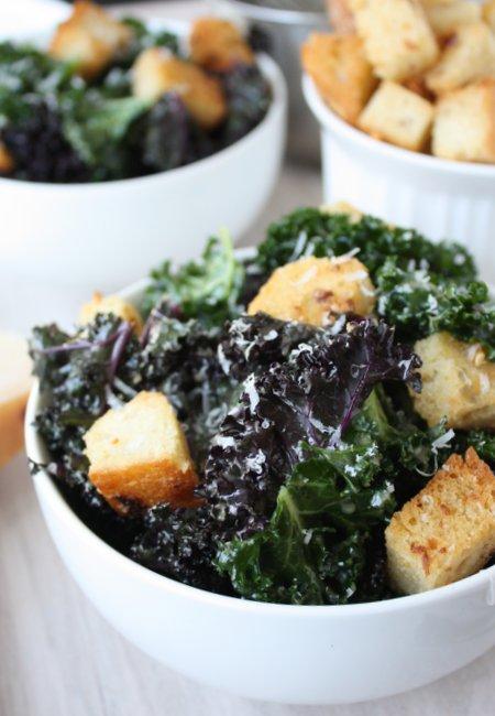 Kale Caesar Salad – The Kitchen Paper