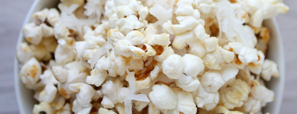 sweet coconut popcorn