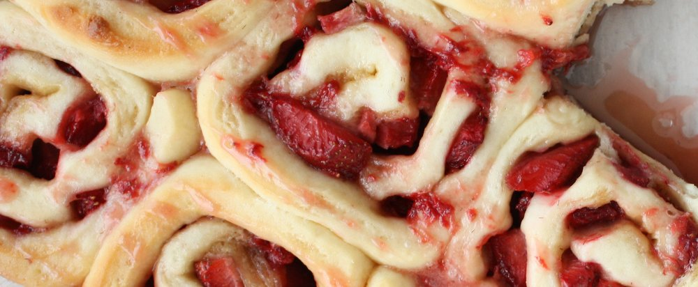 Strawberry Sweet Rolls