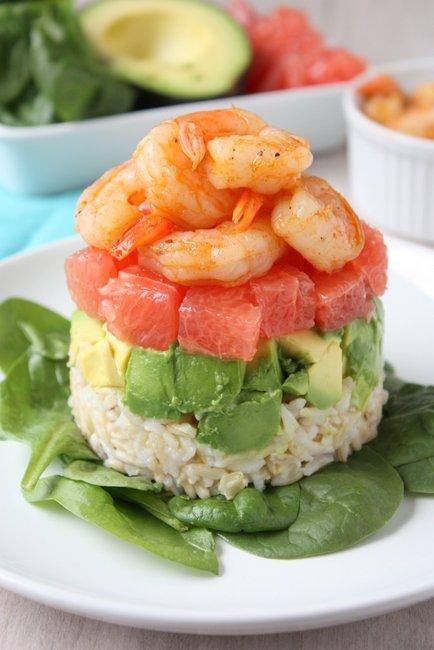 Grapefruit, Avocado, and Shrimp Salad