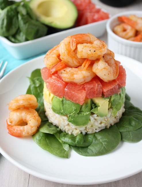 Grapefruit, Avocado, and Shrimp Salad
