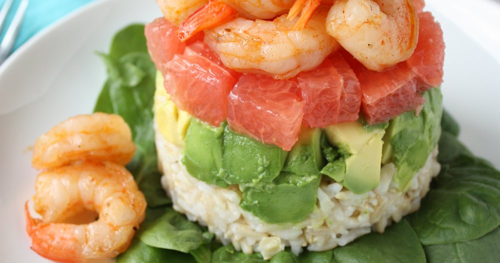 avocado grapefruit shrimp salad