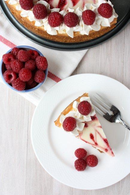 skinny raspberry cheesecake