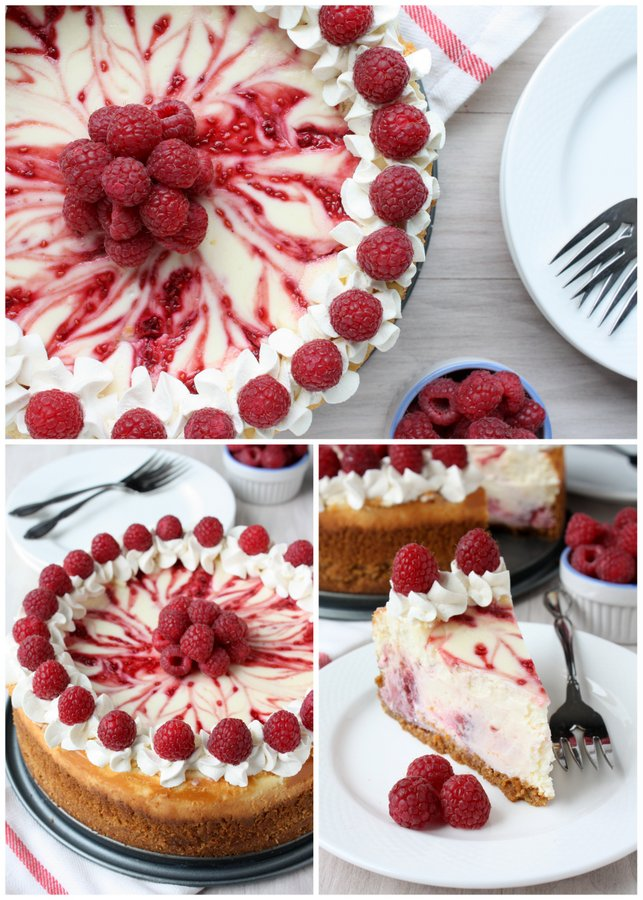 skinny raspberry cheesecake