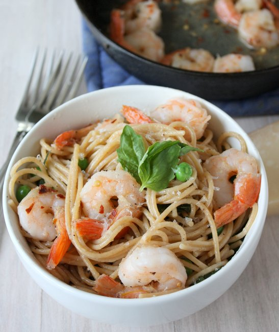 easy shrimp pasta