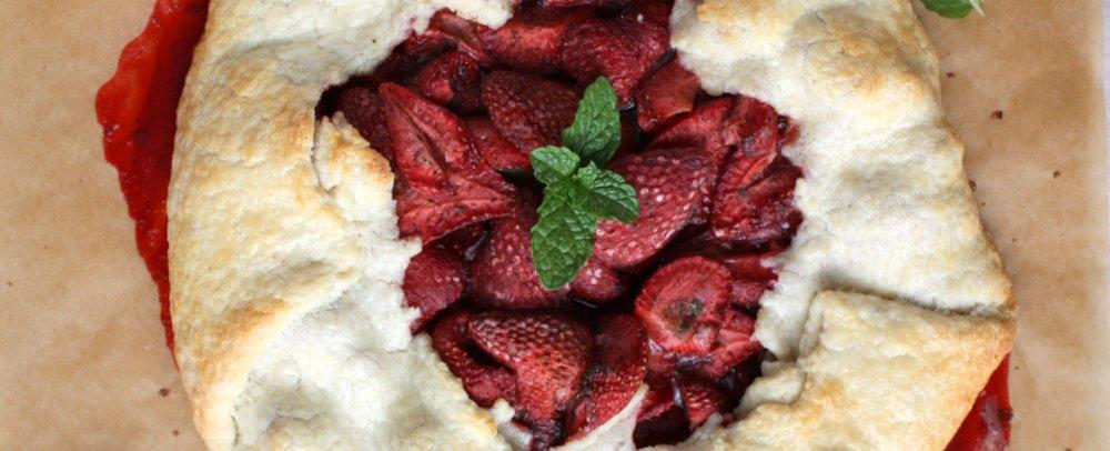 Strawberry Vanilla Mint Galette