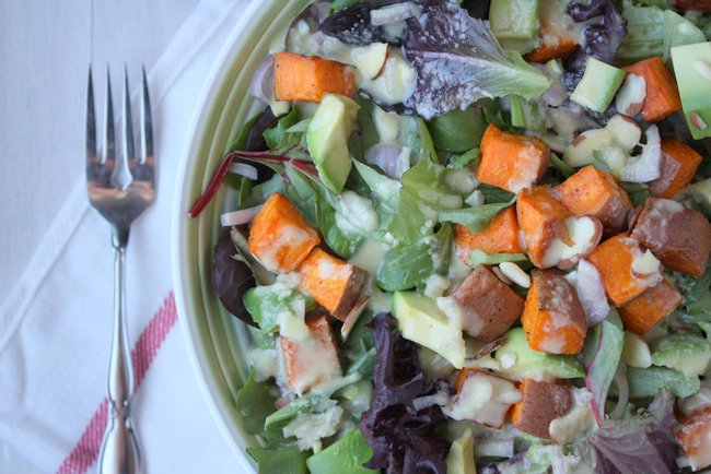 Sweet Potato Salad with Lime Miso Dressing Recipe – The ...