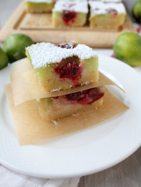 lime raspberry bars