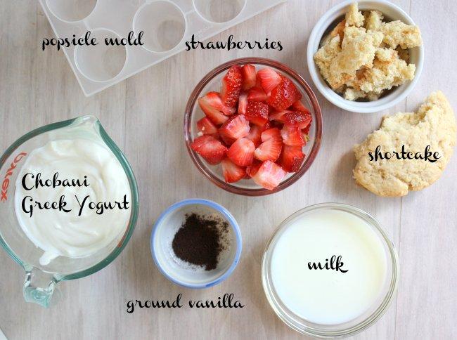 strawberry shortcake yogurt popsicles