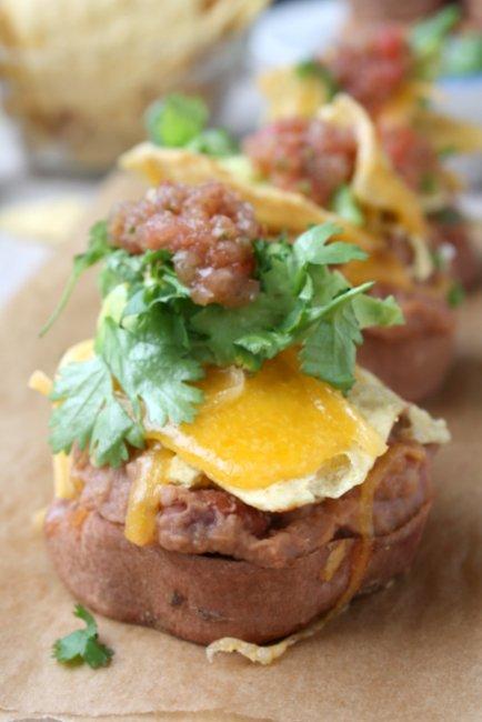 Sweet Potato Nacho Stacks