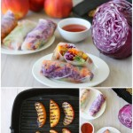 Grilled Peach Spring Rolls