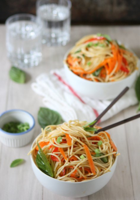 Cold Soba Noodles with Sesame Ginger Scallion Sauce