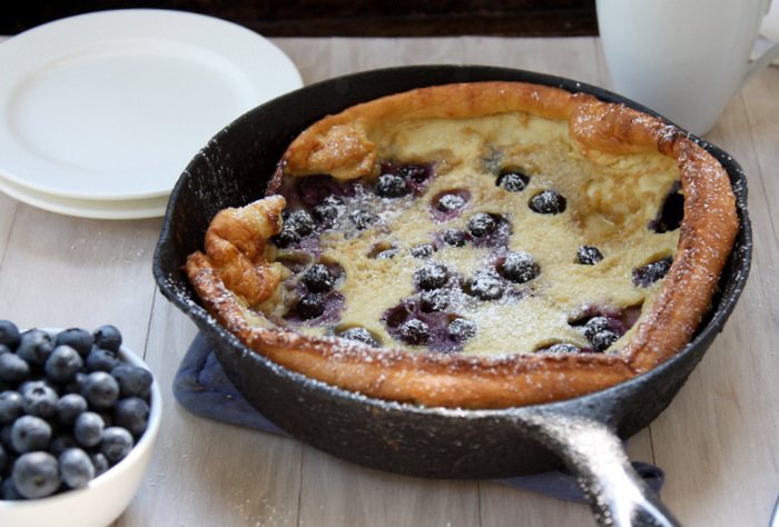 Brown Butter Blueberry Dutch Baby