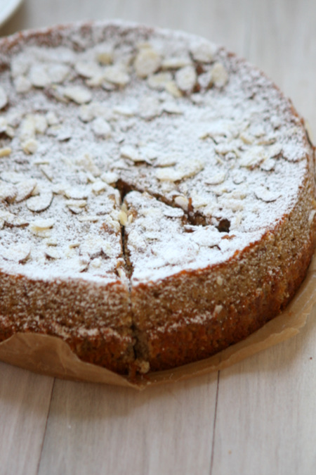Gluten Free Lemon Almond Ricotta Cake
