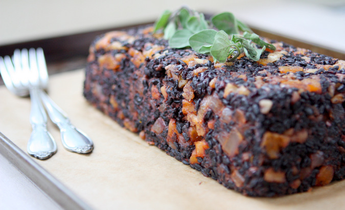 Apricot Walnut Black Rice Loaf (Vegan + GF)