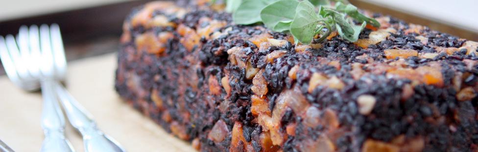 Apricot Walnut Black Rice Loaf (Vegan + GF)