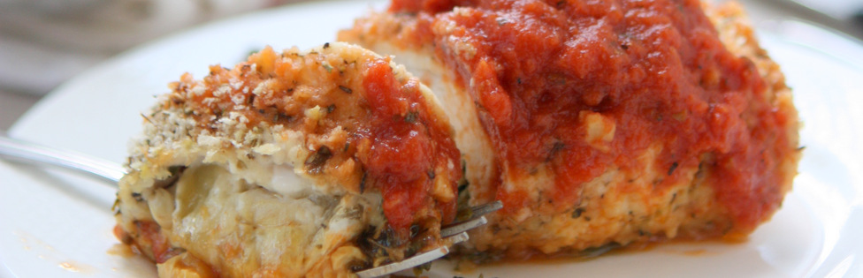 Brie, Basil, and Kale Stuffed Baked Chicken