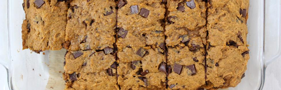 Brown Butter Pumpkin Chocolate Chunk Bars