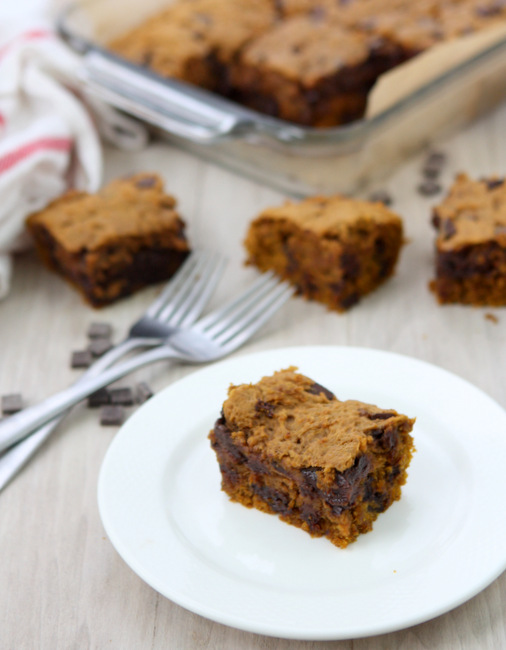 Brown Butter Pumpkin Chocolate Chunk Bars