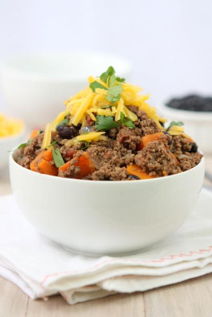 Sweet Potato Skyline Beef Chili