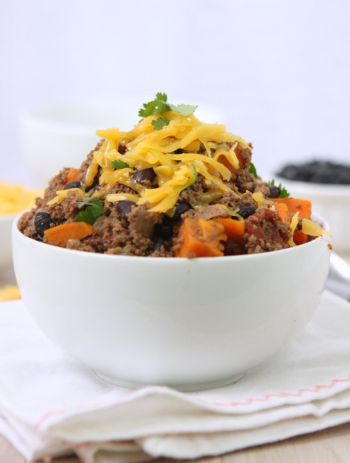 Sweet Potato Skyline Beef Chili