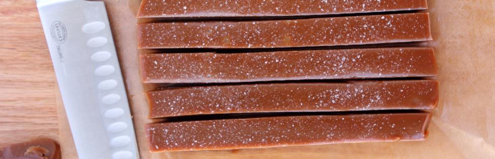 Salted Bourbon Caramels
