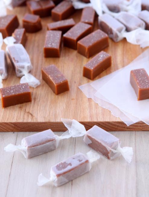 Salted Bourbon Caramels | thekitchenpaper.com