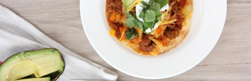 Chorizo Sweet Potato Tostadas