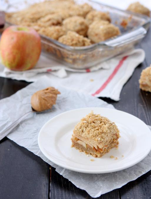 Apple Peanut Butter Oatmeal Bars   thekitchenpaper.com