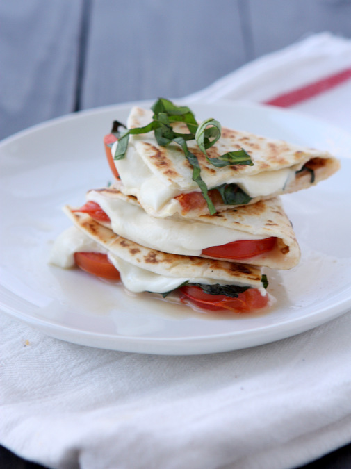 Margherita Pizza Quesadilla | thekitchenpaper.com