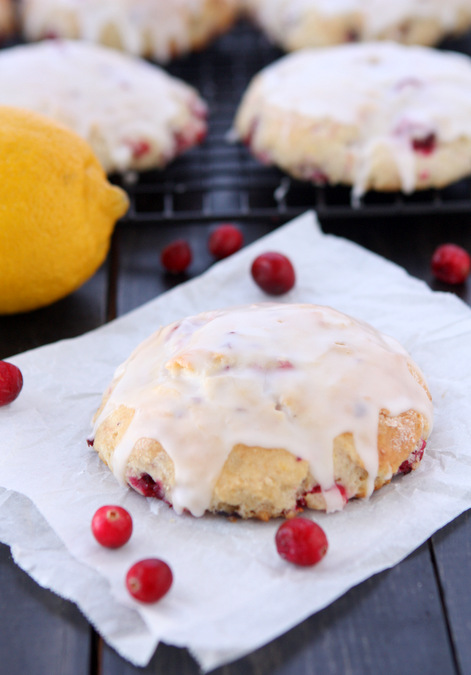 Fresh Cranberry Lemon Scones | thekitchenpaper.com