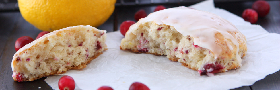 Fresh Cranberry Lemon Scones