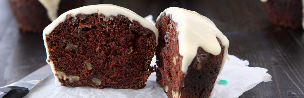 Chocolate Coconut Milk Carrot Cake Cupcakes | thekitchenpaper.com