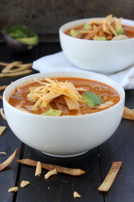 Quick Chicken Tortilla Soup   thekitchenpaper.com