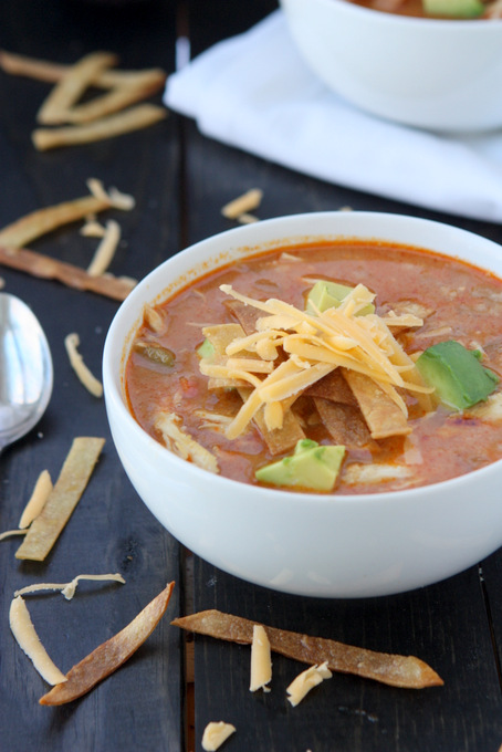 Quick Chicken Tortilla Soup | thekitchenpaper.com