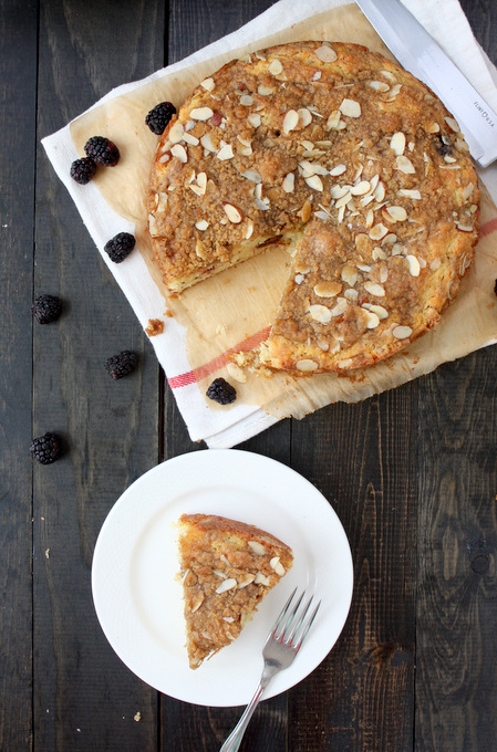 Blackberry Almond Coffee Cake | thekitchenpaper.com