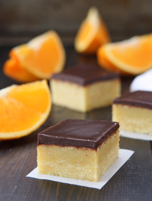 Orange Cookie Bars with Chocolate Ganache | thekitchenpaper.com