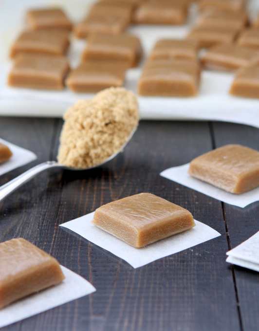 Brown Sugar Jasmine Tea Caramels | thekitchenpaper.com
